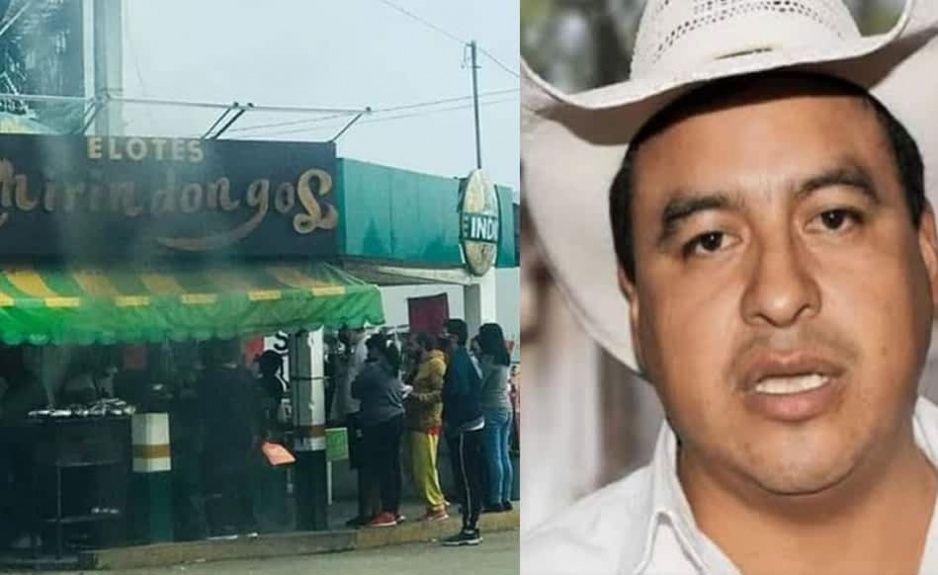 Edil de Zacapoaxtla abre su negocio y viola su propio decreto de cero movilidad