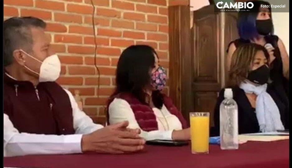 Se divide Comité municipal de Morena en San Andrés Cholula ante favoritismo por Adán Xicale y Karina Pérez