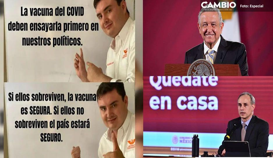 Que vacuna contra el Covid se pruebe en políticos: propone candidato del MC