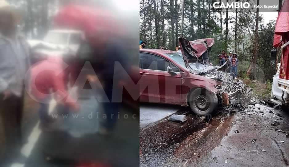 Trágico accidente en Aquixtla deja una persona sin vida y daños materiales