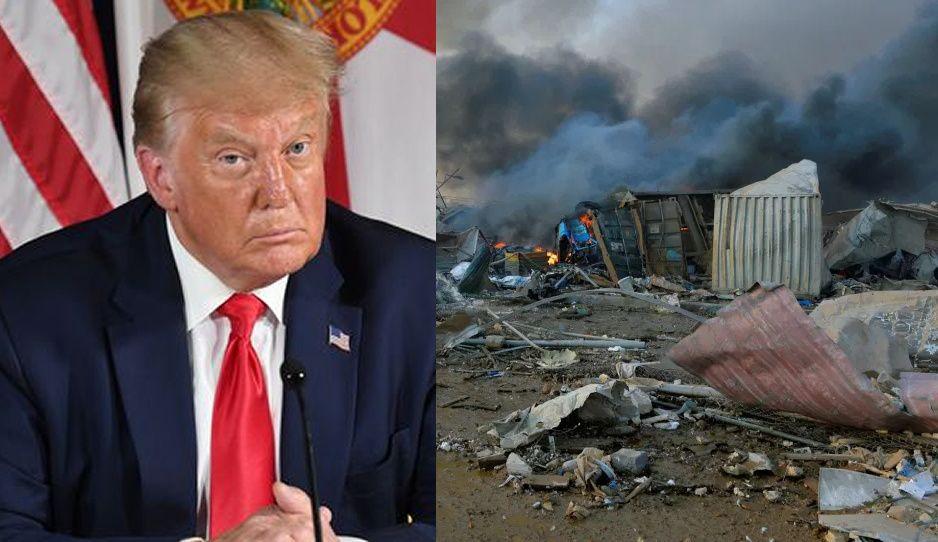 Explosión en Beirut fue por algún tipo de bomba: Donald Trump