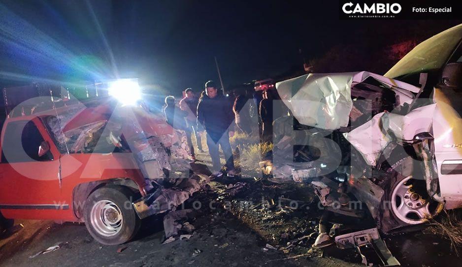 Terrible choque en la carretera Tecamachalco-Tochtepec deja un muerto y cuatro lesionados (FOTOS)
