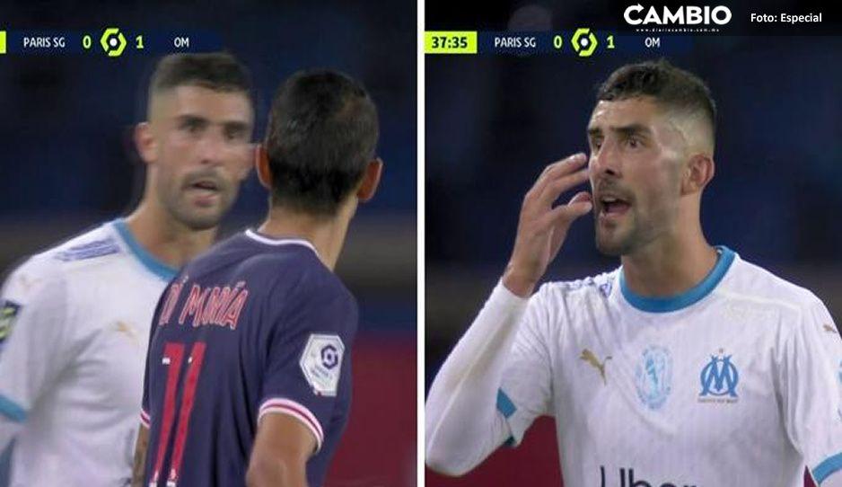 Di María le escupe a jugador del Marsella por comentario racista contra Neymar (VIDEO)