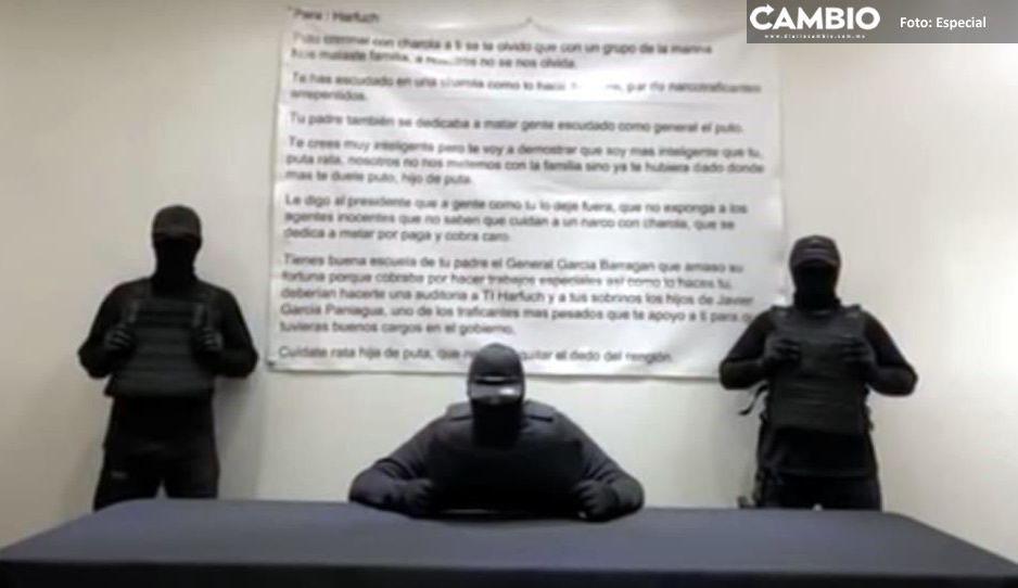 """Encapuchados amenazan de nuevo a Omar García Harfuch; """"Te crees muy inteligente, pero te voy a demostrar que soy más inteligente que tú"""" (VIDEO)"""