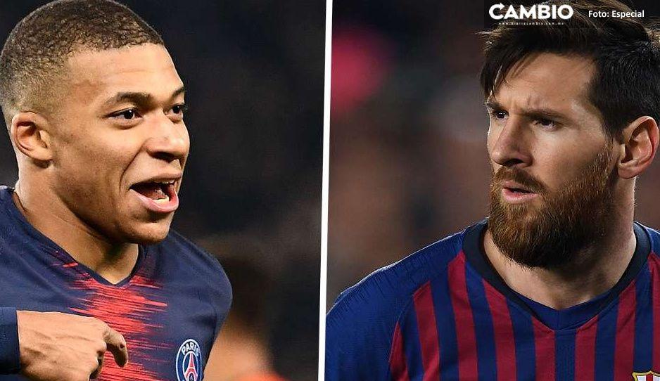 Mbappé sería el sucesor de Messi en el Barcelona