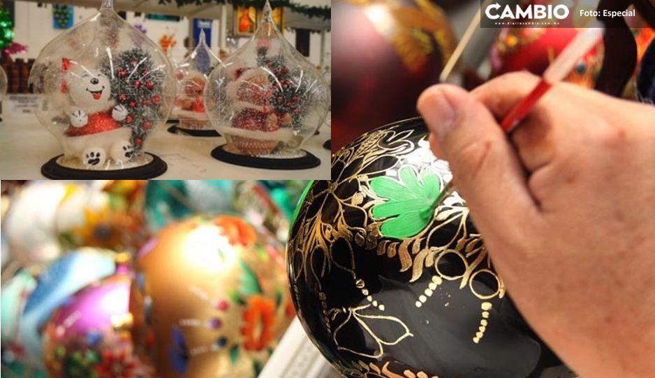 ¡Orgullo mexicano! Artesana de Chignahuapan lleva a Nueva York las tradicionales esferas