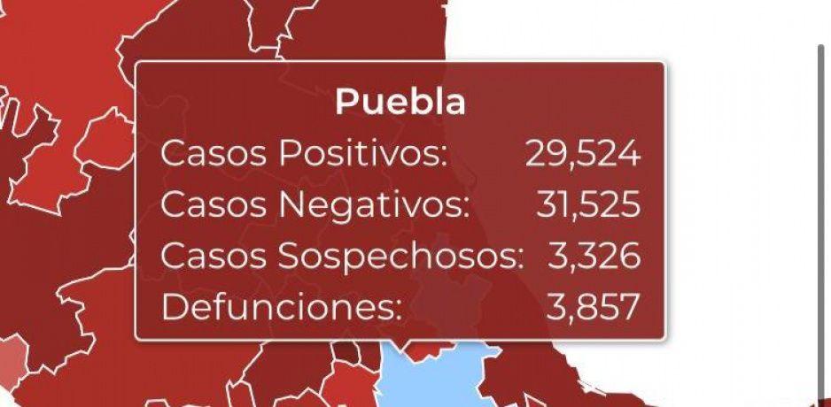 Federación esconde 180 muertes por Covid en Puebla; reconoce 3 mil 857 de 4 mil 037