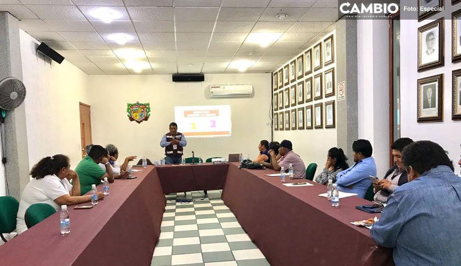 Capacita Gobierno de Texmelucan a representantes  de tianguis y comercio informal sobre el Covid-19