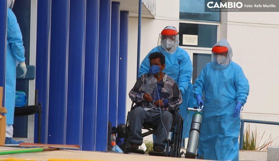 Hospitales COVID en Puebla en alerta roja, ya están al 80% de su capacidad ante aumento de contagios