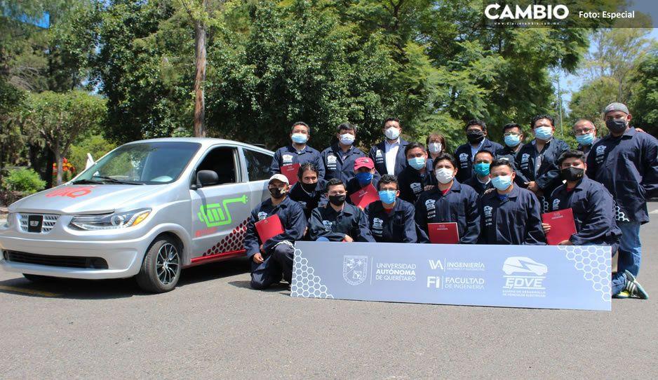 Verdaderos genios: Universitarios crean primer auto eléctrico cero emisiones