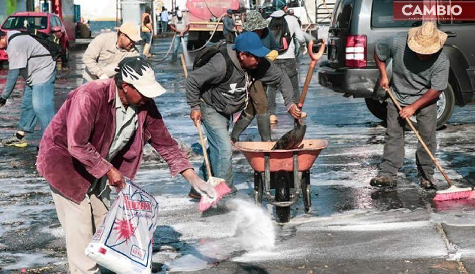 Gobierno de Atlixco continúa con jornadas de limpieza y sanitización para prevenir Covid-19