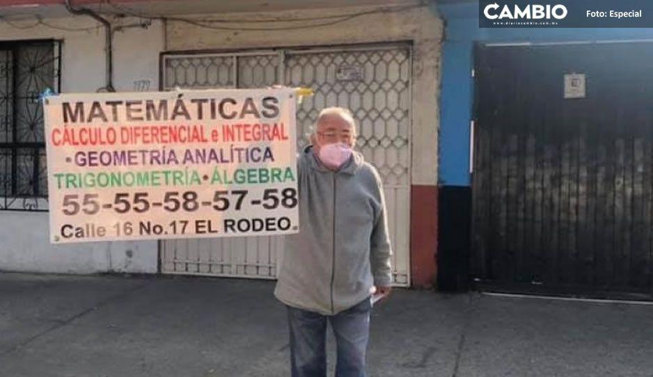 Abuelito desesperado pide ayuda para encontrar trabajo; da clases de matemáticas
