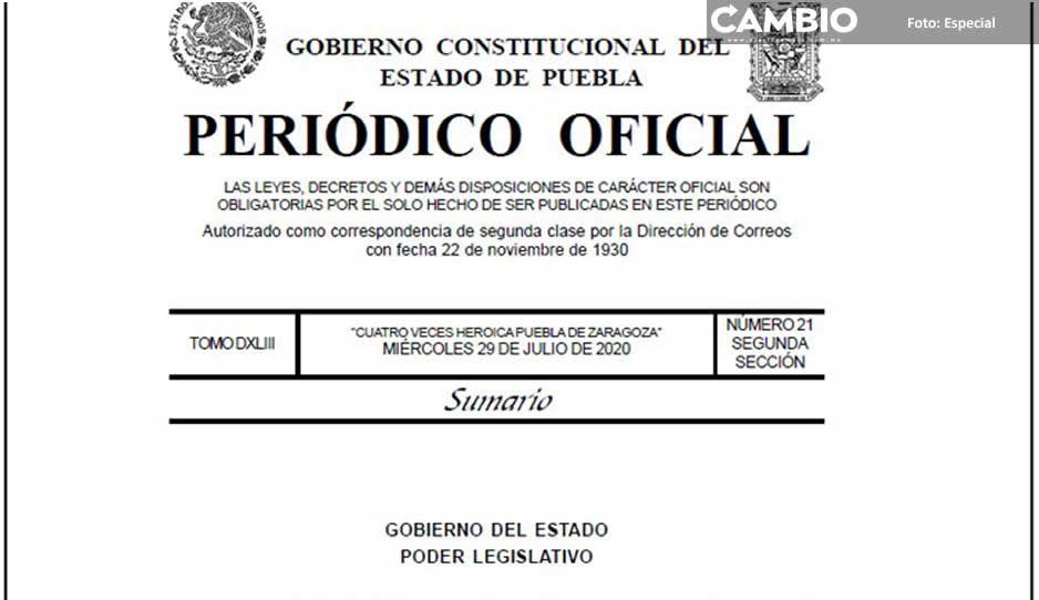 Es oficial: en Puebla ya no existe el beneficio del fuero constitucional