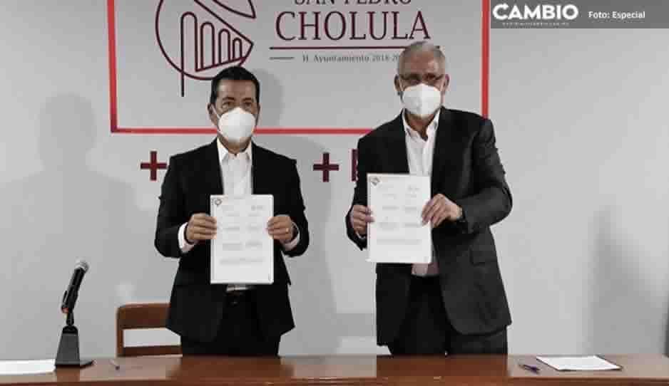 SSP y San Pedro Cholula firman convenio para prevención del delito