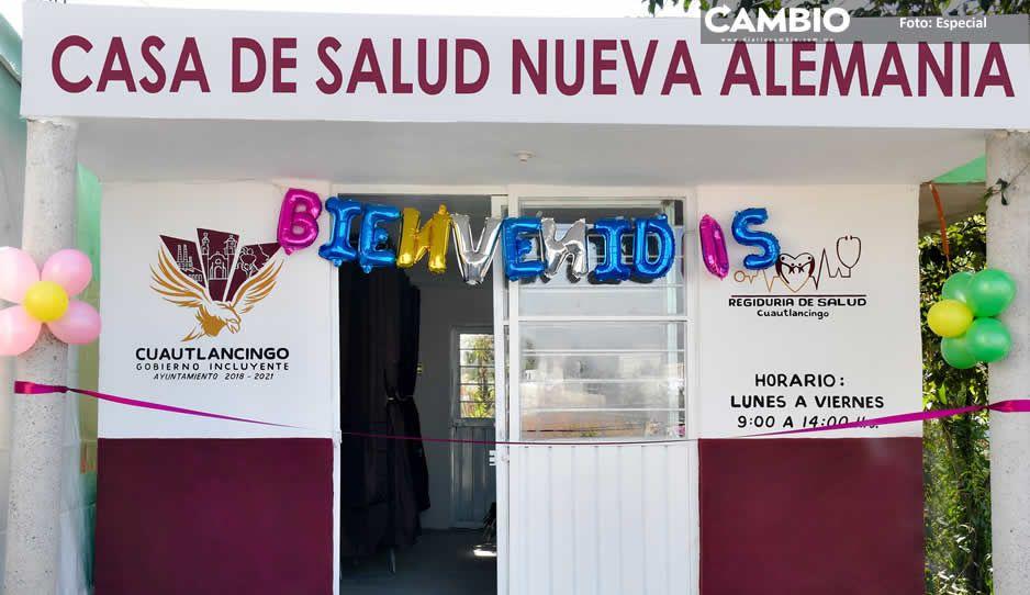 Casas de Salud y Dispensarios Médicos  dan atención gratuita en Cuautlancingo