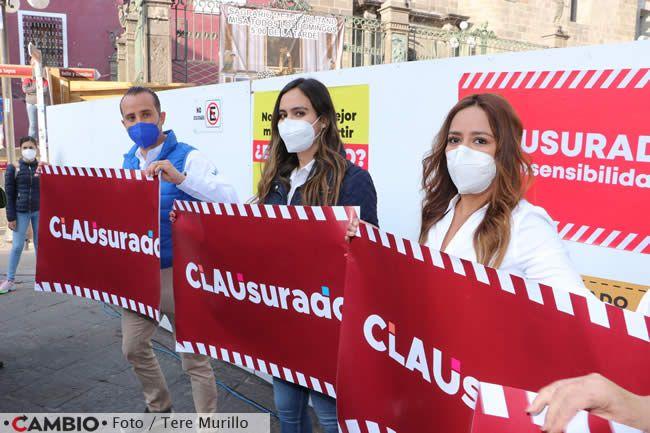 candidatos prianrd clausuran obras del zocalo de puebla