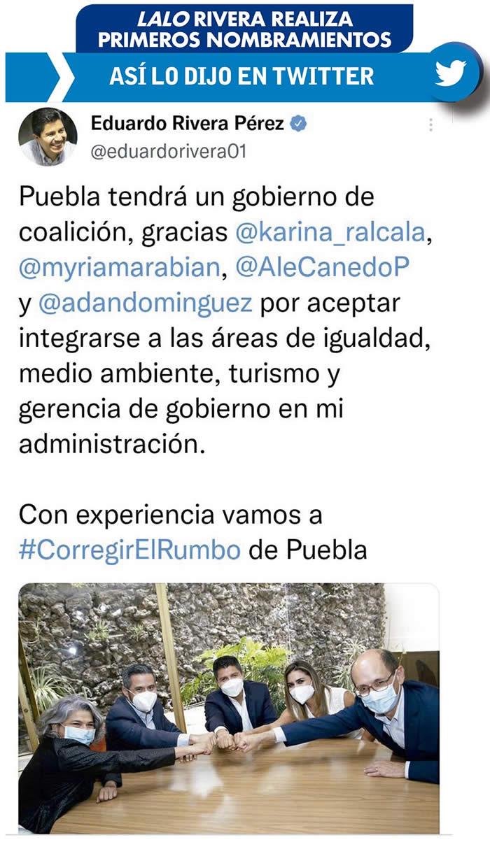 tweet nombramientos lalo rivera