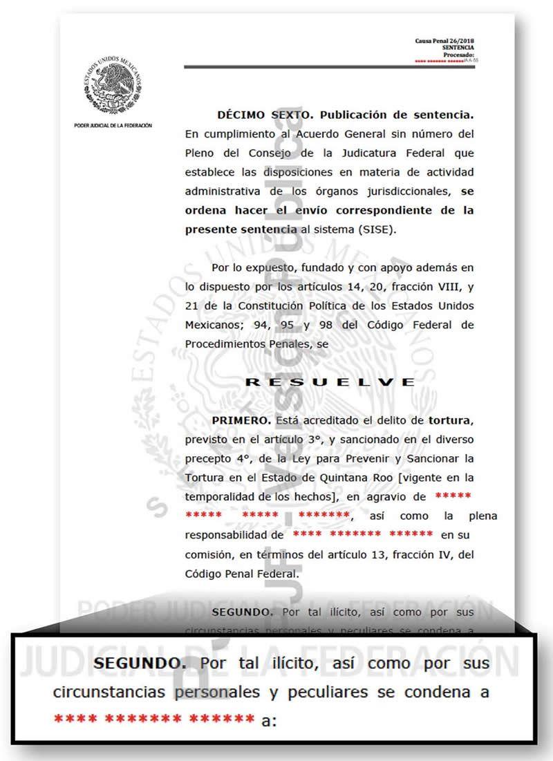 Sentencia Juan Sánchez Moreno