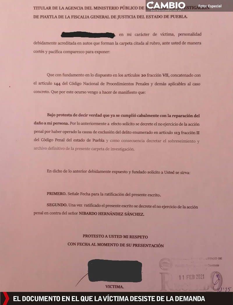 documento retiro denuncia nibardo