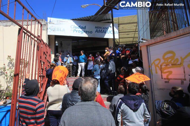 locatarios del mercado Amalucan