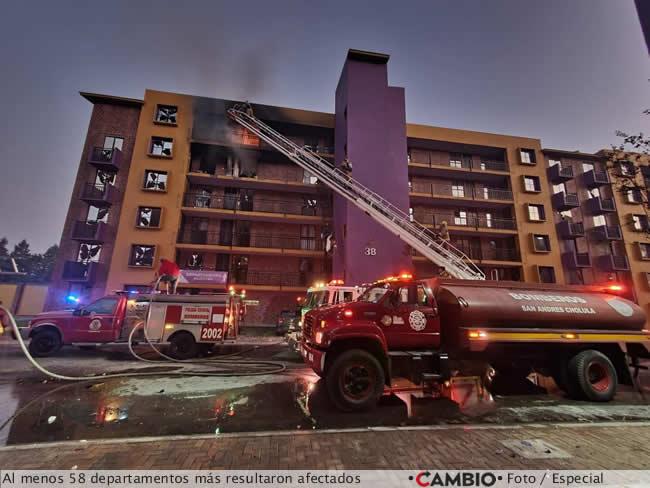 incendio coronango departamentos afectados