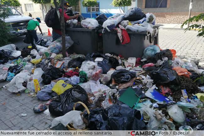 basura tehuacan cerrado relleno sanitario