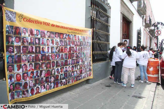 colectivo voz desaparecidos manifestacion afuera congreso