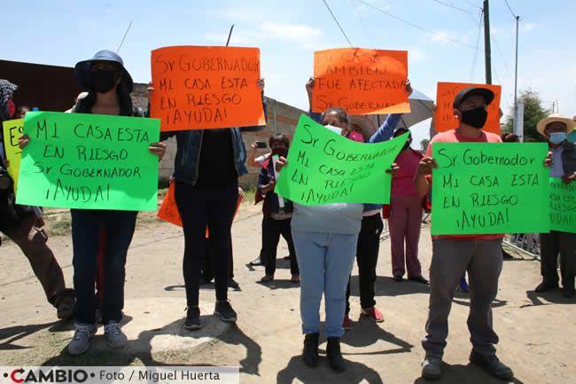 manifestantes socavon