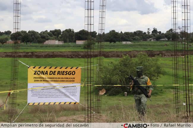 socavon perimetro seguridad