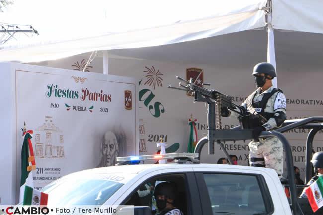 encabeza barbosa desfile inicio independencia fuerzas armadas