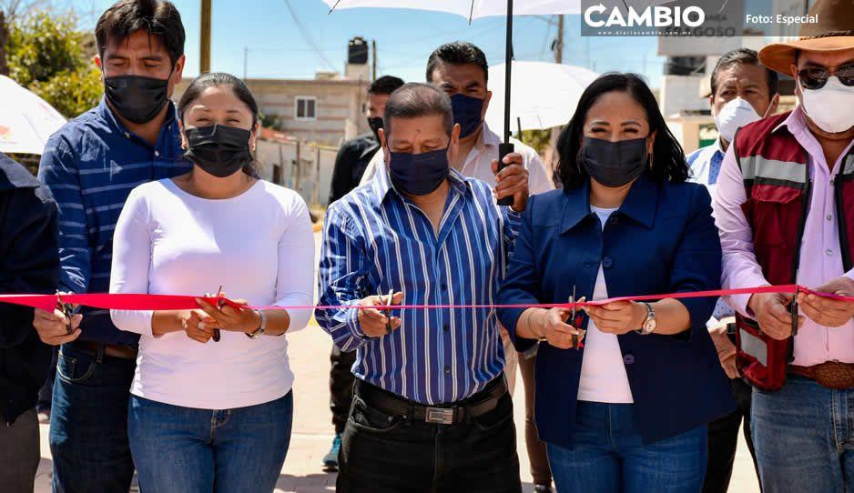 Lupita Daniel inaugura obras en la Trinidad Sanctorum