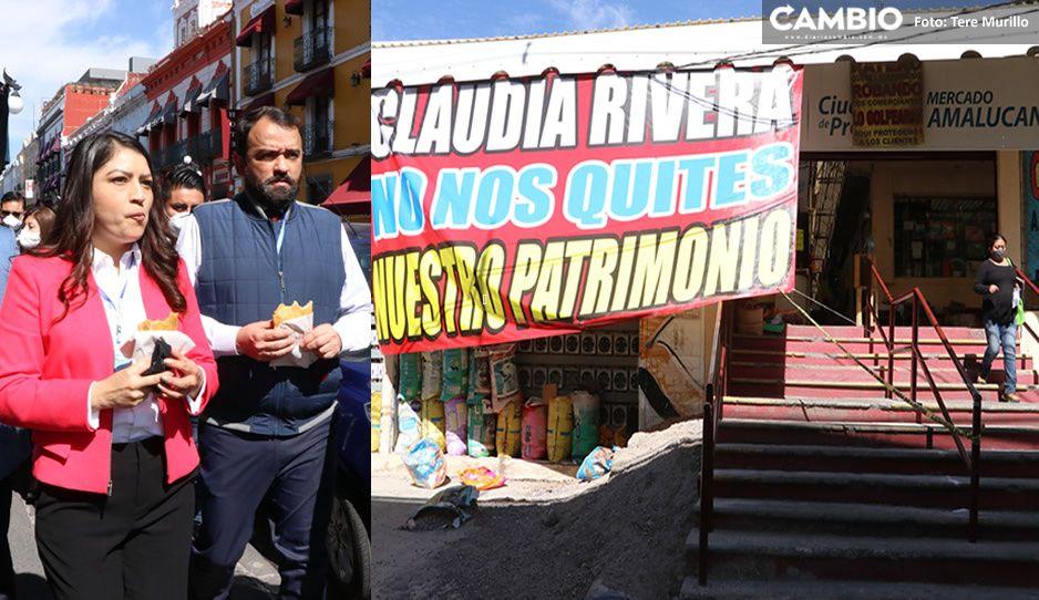 Les vale m...: gobierno de Claudia proyecta derrumbar mercado de Amalucan este mes