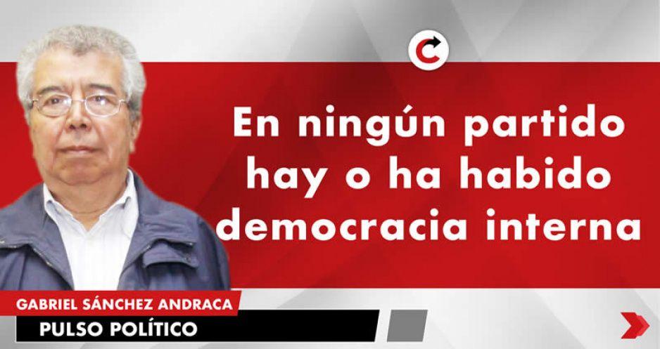 En ningún partido hay o ha habido democracia interna