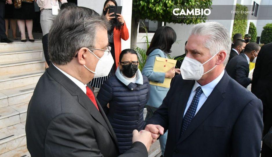 """""""Es un honor llegar a la tierra azteca"""": Díaz-Canel, presidente de Cuba, llega a México"""