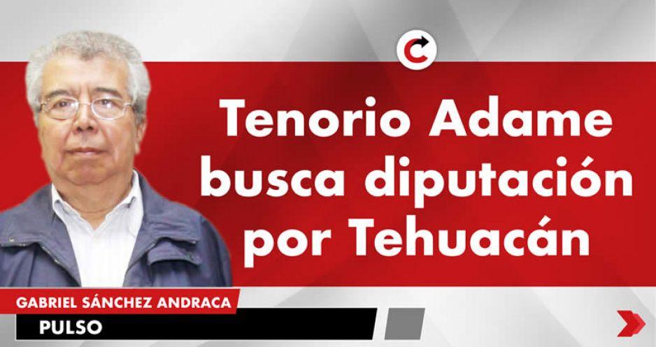 Tenorio Adame busca diputación por Tehuacán