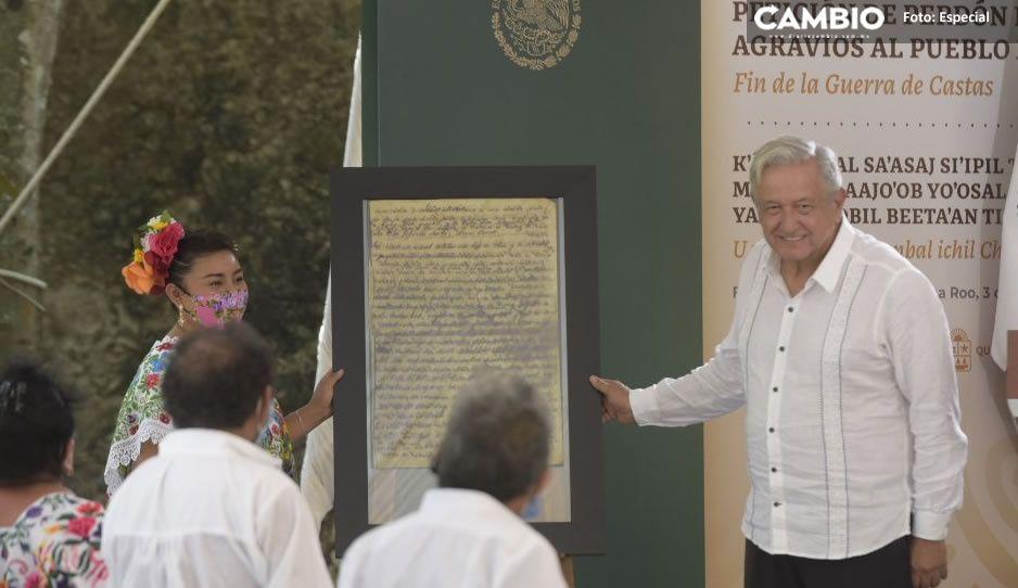 AMLO pide perdón al pueblo maya por abusos sufridos en tres siglos (VIDEO)