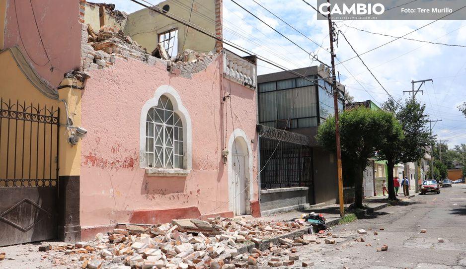 ¡Peligro! Colapsa vivienda de la 20 Oriente en San Francisco (FOTOS y VIDEO)