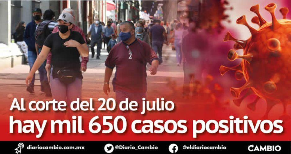 En 20 días de julio hay 550 casos más de COVID-19 que en todo el mes de junio