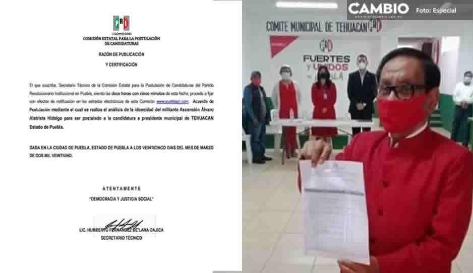 PRI oficializa candidatura de El Mostro para la alcaldía de Tehuacán