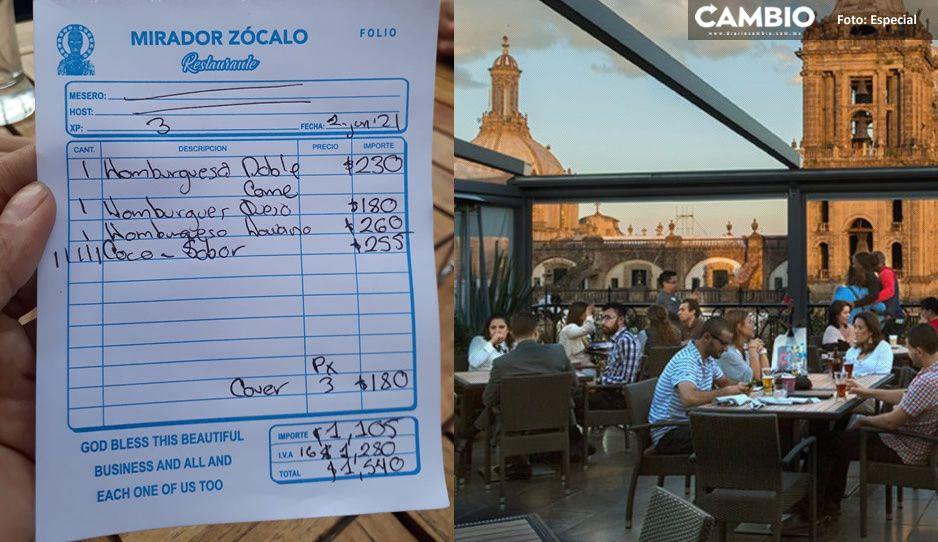 Denuncian estafa de restaurante en CDMX con terraza; esto le cobró a una familia