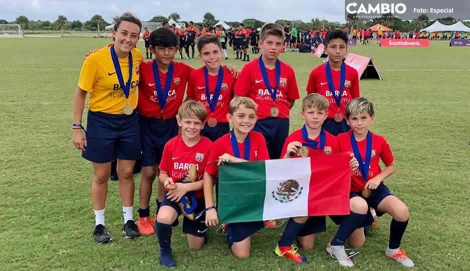 Mateo, primer niño mexicano en la 'Masía estadounidense' tras su paso por Barça Academy de Puebla