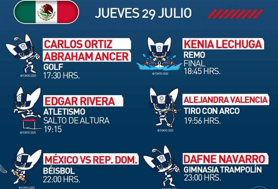 ¿Jueves de medallas? Checa la agenda de los mexicanos esta tarde en Tokio