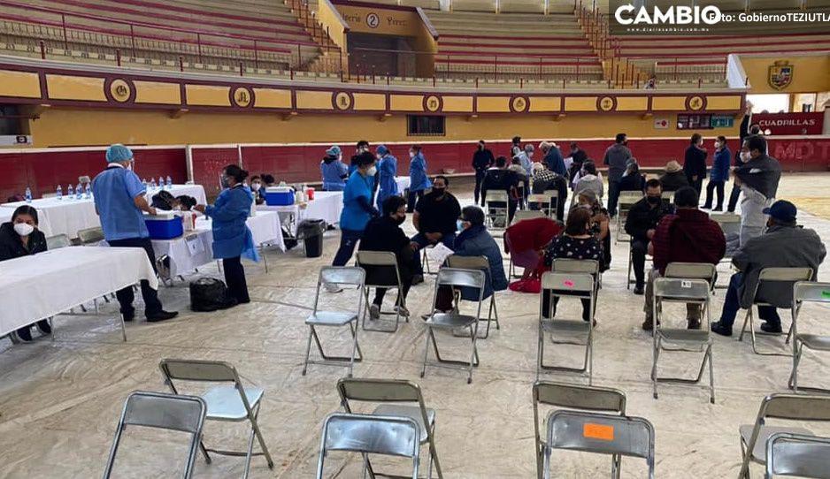 Habilitan CESSA y Plaza de Toros de Teziutlán como punto de vacunación masiva