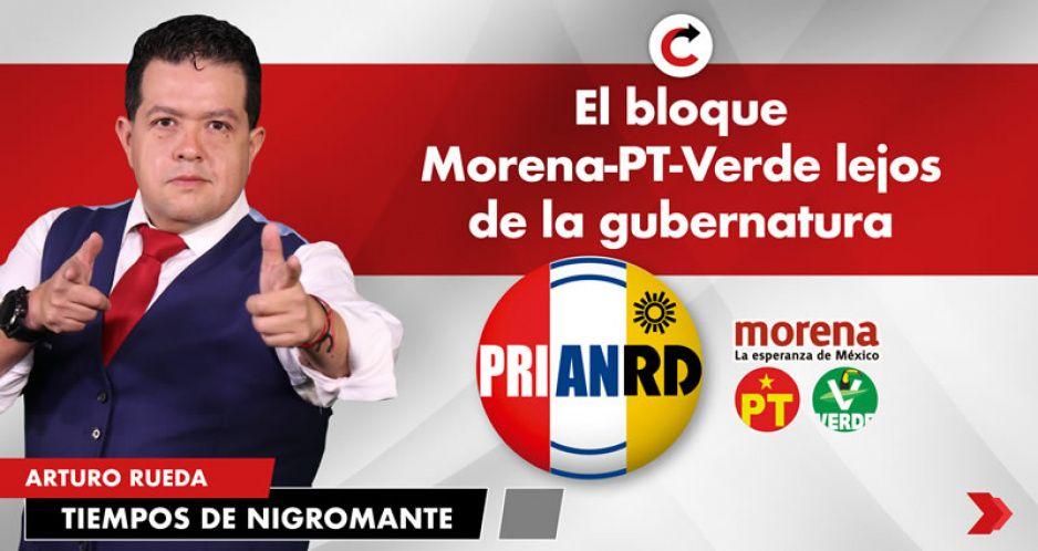 El bloque Morena-PT-Verde lejos de la gubernatura
