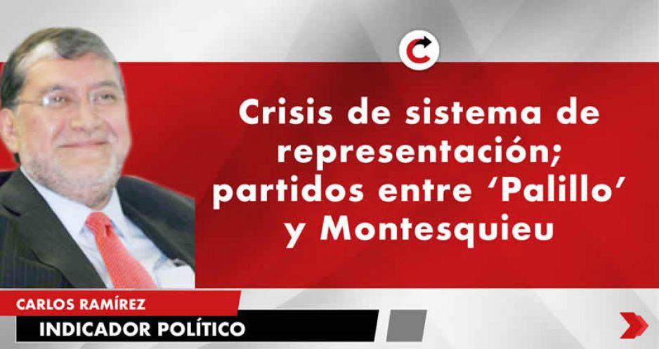 Crisis de sistema de representación; partidos entre Palillo y Montesquieu