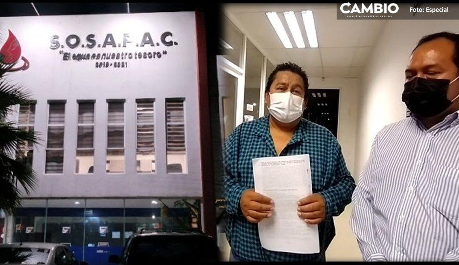 Trabajadores del SOSAPAC exigen el 100 por ciento de su liquidación en Cuautlancingo