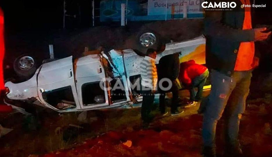 Trágica volcadura de camioneta de personal, deja 10 heridos en la México-Tuxpan