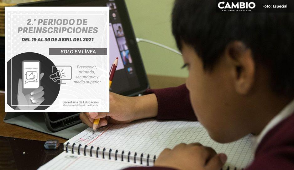 SEP anuncia el segundo periodo de preinscripción en línea para alumno de educación básica