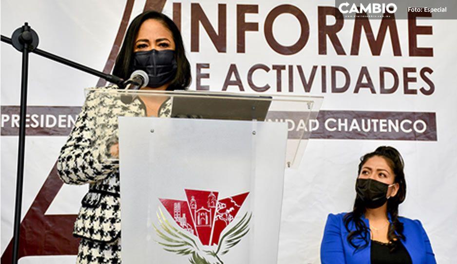Obras en juntas auxiliares de Cuautlancingo son prioridad para el desarrollo: Lupita Daniel
