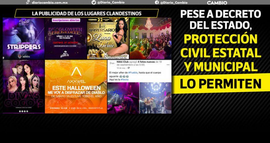 Vida nocturna en Puebla se vive en CLANDESTINO: antros y bares operan de madrugada (FOTOS Y VIDEO)